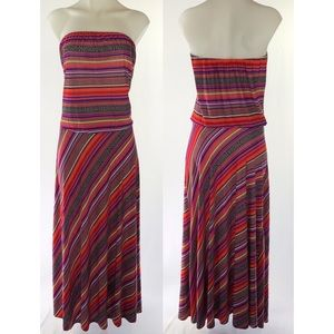 Veronica M strapless blouson Maxi Dress